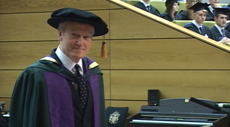 John Foxx Honorary Doctorate